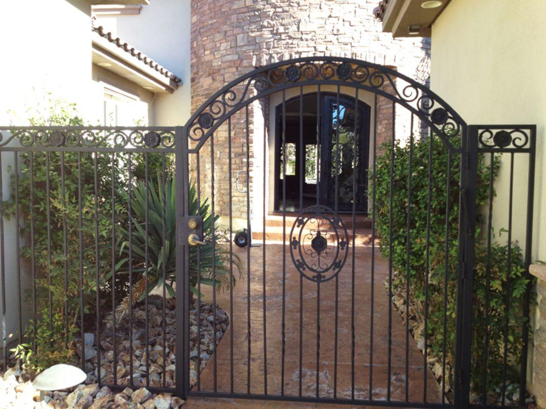 Traditional Single Gate - Item FavelaSG0301 Wrought Iron Design In Las Vegas