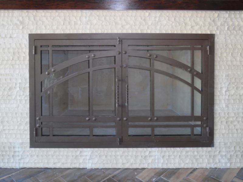 Fireplace Cover - Item FPC0008 Wrought Iron Design In Las Vegas