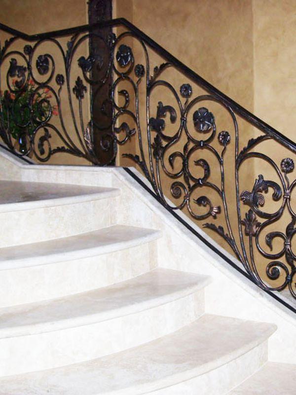 Nature inspired-Interior Railing-Item IR0015 Wrought Iron Design In Las Vegas