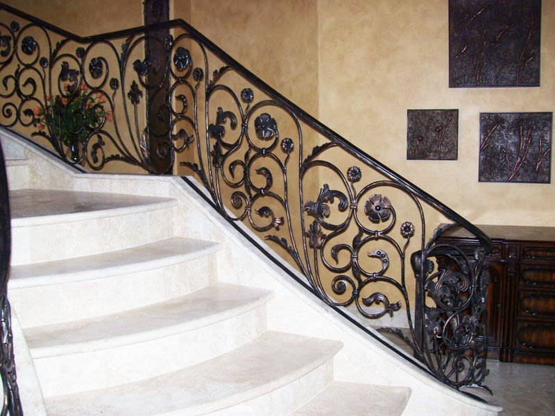 Traditional-Interior Railing-Item IR0015 Wrought Iron Design In Las Vegas