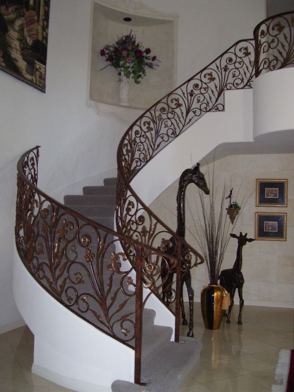 Nature inspired-Interior Railing-Item IR0019 Wrought Iron Design In Las Vegas