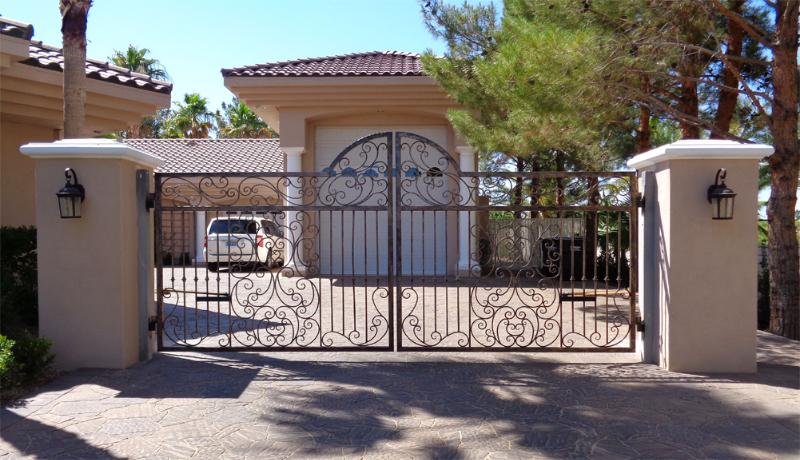 Gate DG0308 Wrought Iron Design In Las Vegas