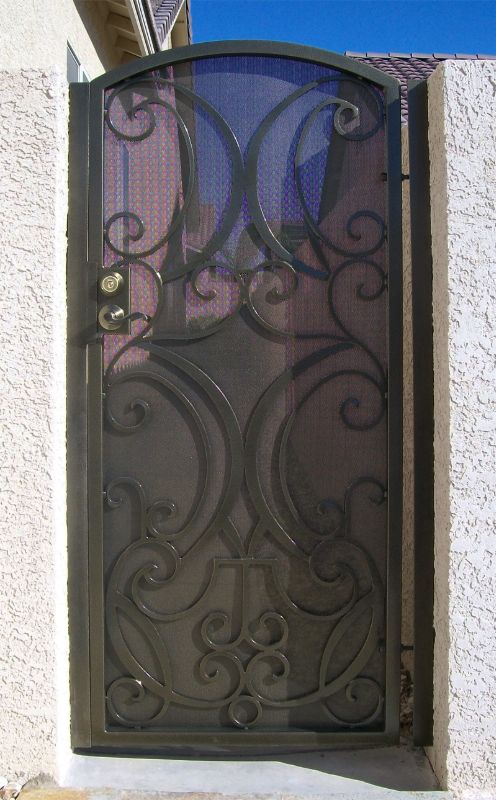Scrollwork Single Gate - Item Glasgow SG0066 Wrought Iron Design In Las Vegas