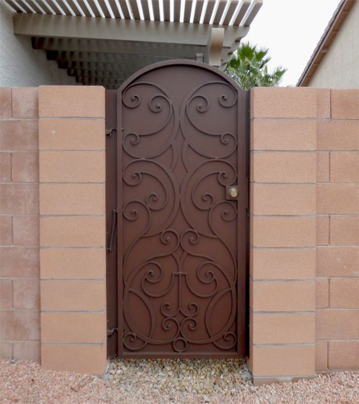 Traditional Single Gate - Item GlasgowSG0066A Wrought Iron Design In Las Vegas