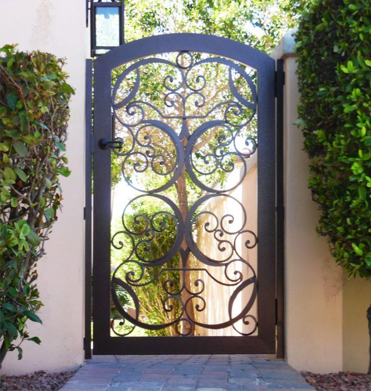 Scrollwork Single Gate - Item GlasgowSG0066B Wrought Iron Design In Las Vegas