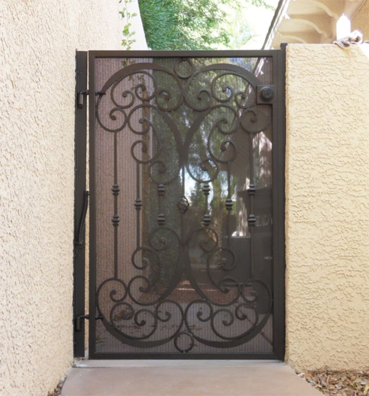Scrollwork Single Gate - Item Glasgow SG0066C Wrought Iron Design In Las Vegas