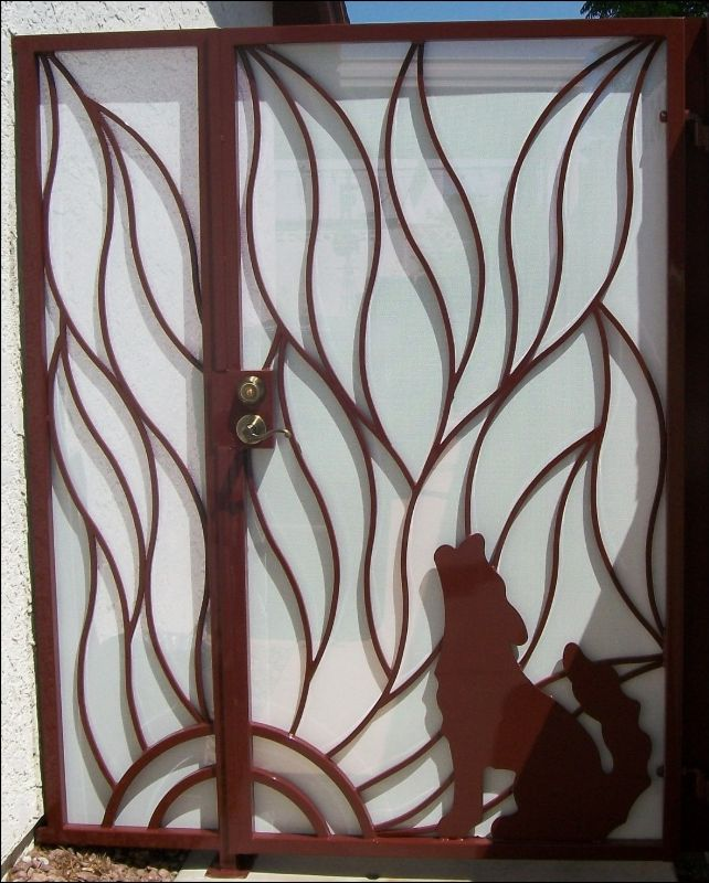 Nature Inspired Single Gate - Item HowlinSG0046 Wrought Iron Design In Las Vegas