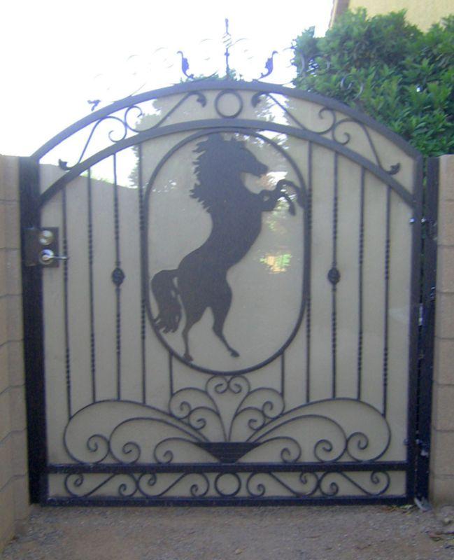 Plasma-Cut Single Gate - Item JardinSG0112 Wrought Iron Design In Las Vegas