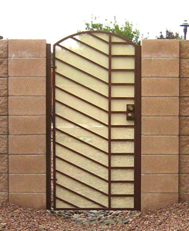 Modern Single Gate - Item JennerSG0099 Wrought Iron Design In Las Vegas