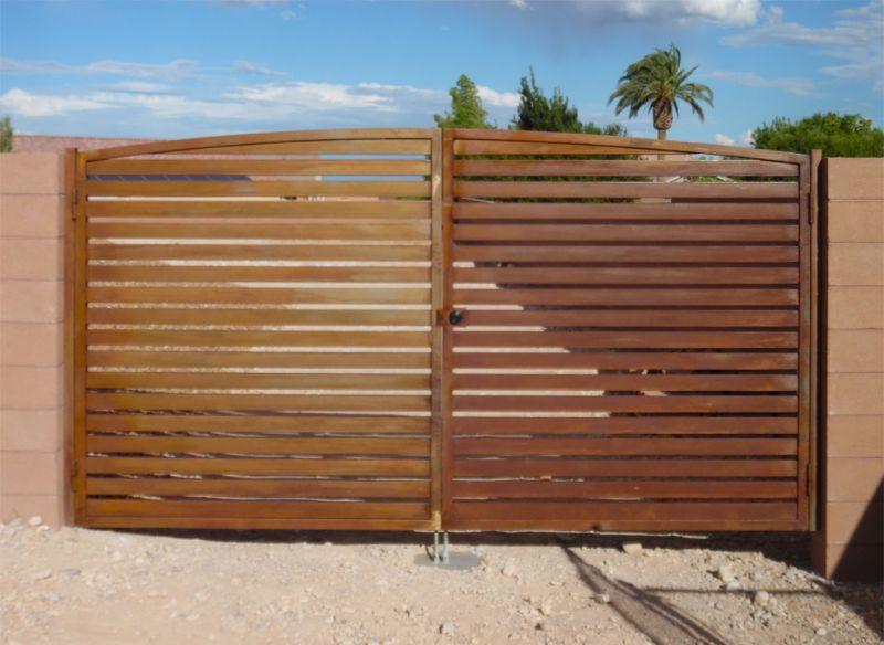 Modern Double Gate - Item La BreaDG0353 Wrought Iron Design In Las Vegas