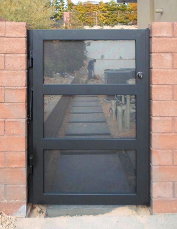 Modern Single Gate - Item La BreaSG0450 Wrought Iron Design In Las Vegas