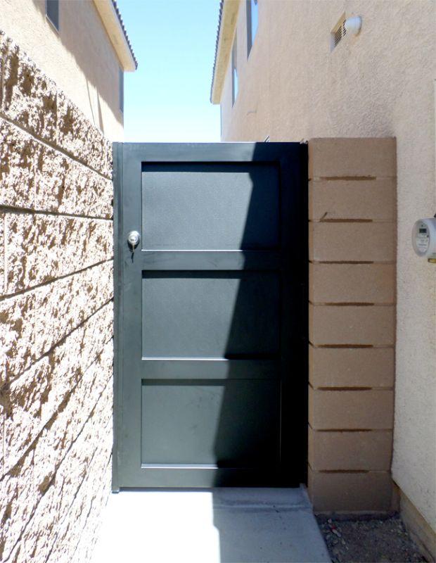Modern Single Gate - Item La BreaSG0479 Wrought Iron Design In Las Vegas