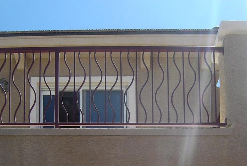 Modern Balcony Railing - Item BR0022B Wrought Iron Design In Las Vegas