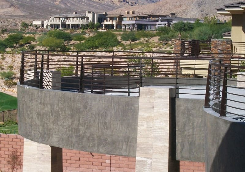 Modern Balcony Railing - Item BR0050 Wrought Iron Design In Las Vegas