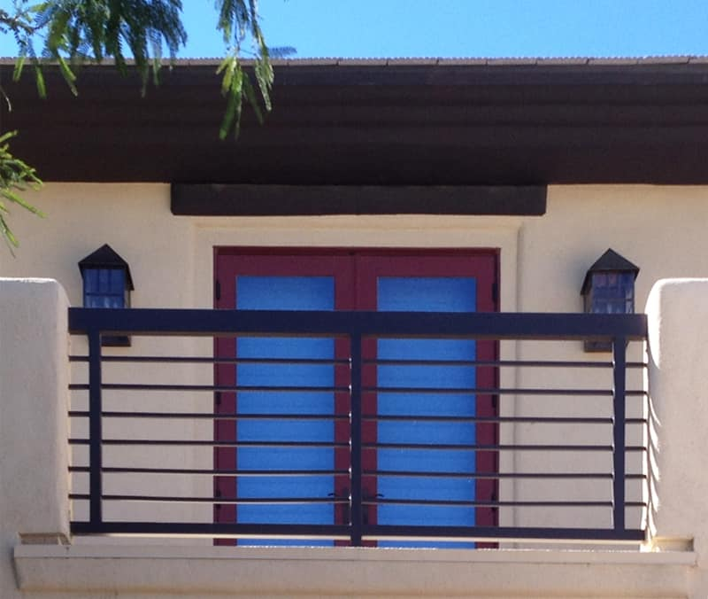 Modern Balcony Railing - Item BR0071 Wrought Iron Design In Las Vegas