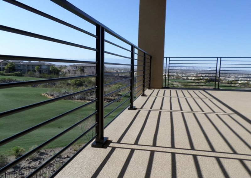 Modern Balcony Railing - Item BR0104 Wrought Iron Design In Las Vegas