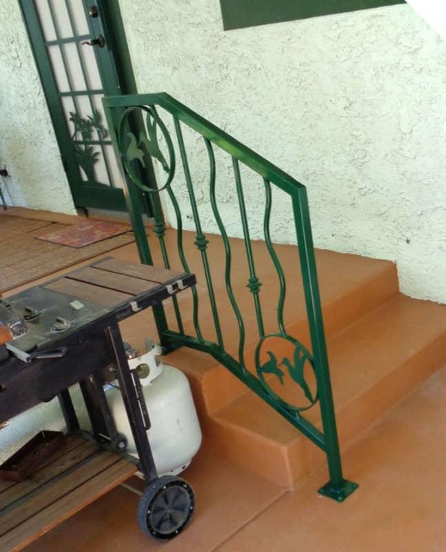 Modern Exterior Railing - Item ER0103A Wrought Iron Design In Las Vegas