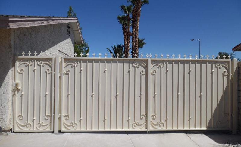 Traditional Double Gate - Item MelodiaDG0332 Wrought Iron Design In Las Vegas