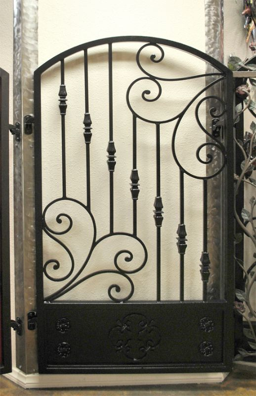 Traditional Single Gate - Item Melodia SG0490 Wrought Iron Design In Las Vegas