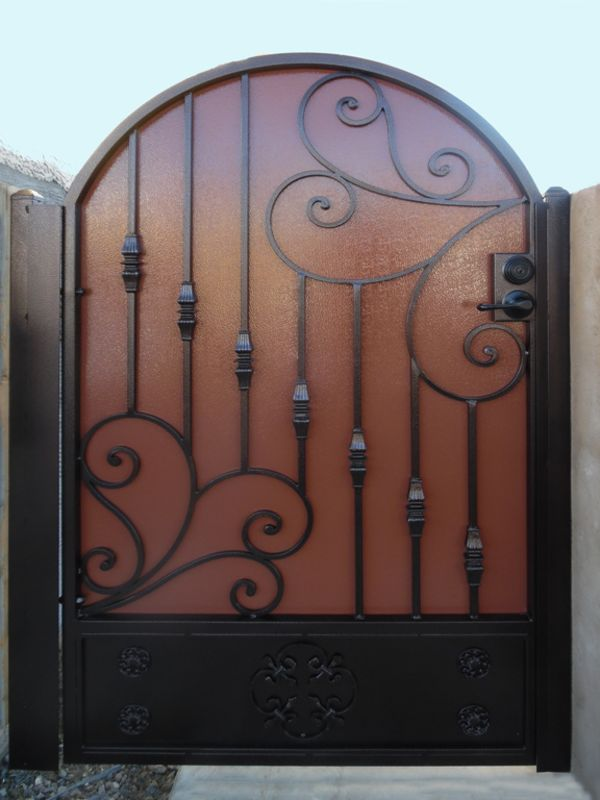 Traditional Single Gate - Item Melodia SG0490A Wrought Iron Design In Las Vegas