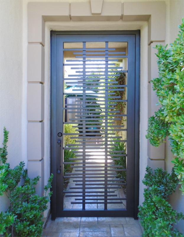 Modern Asford Entryway Door - Item EW0487 Wrought Iron Design In Las Vegas