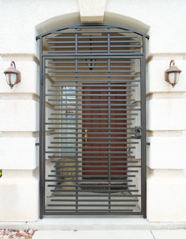 Modern Asford Entryway Door - Item EW0487A Wrought Iron Design In Las Vegas