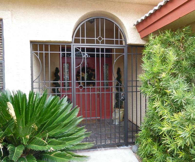 Modern Avery Entryway Door - Item EW0452 Wrought Iron Design In Las Vegas