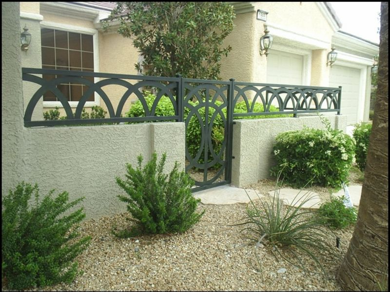 Modern Courtyard & Entryway Gates CE0005 Wrought Iron Design In Las Vegas