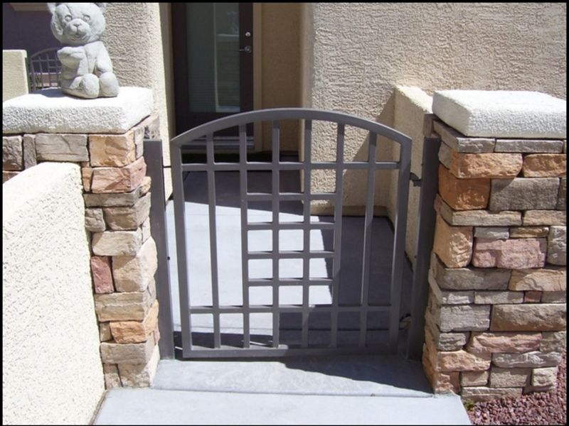 Modern Courtyard & Entryway Gates CE0073 Wrought Iron Design In Las Vegas