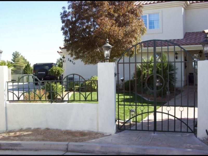 Modern Courtyard & Entryway Gates CE0083 Wrought Iron Design In Las Vegas