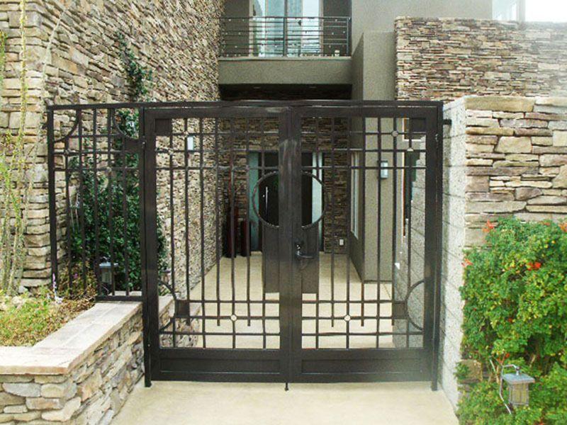 Modern Courtyard & Entryway Gates CE0107 Wrought Iron Design In Las Vegas