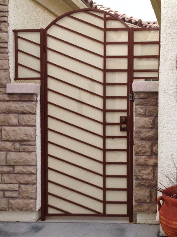 Modern Courtyard & Entryway Gates CE0173 Wrought Iron Design In Las Vegas