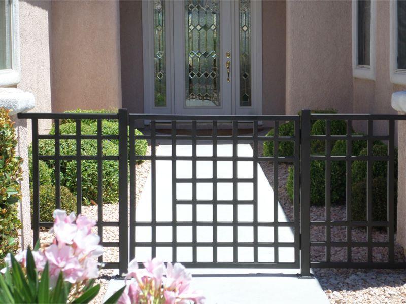 Modern Courtyard & Entryway Gates CE0317 Wrought Iron Design In Las Vegas