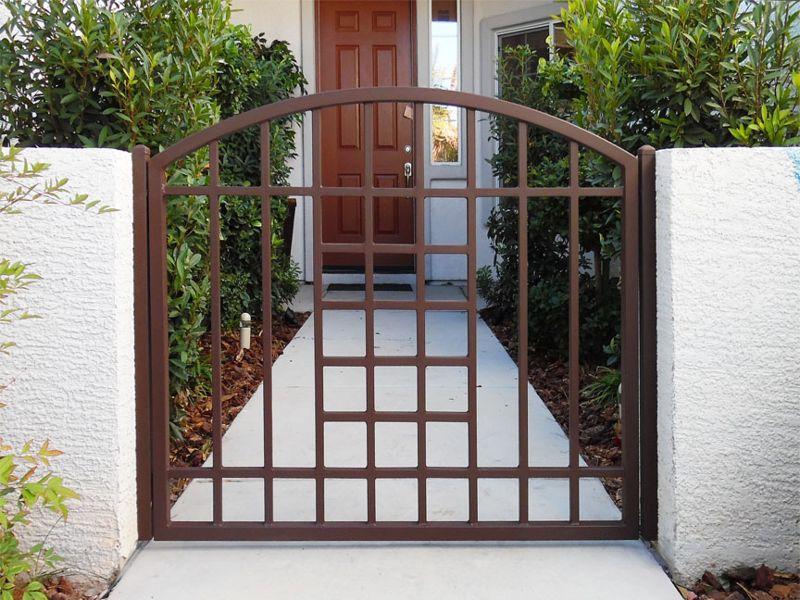 Modern Courtyard & Entryway Gates CE0317A Wrought Iron Design In Las Vegas