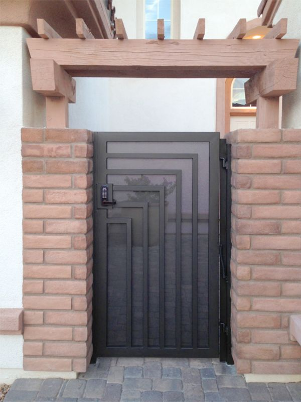 Modern Courtyard & Entryway Gates CE0337 Wrought Iron Design In Las Vegas