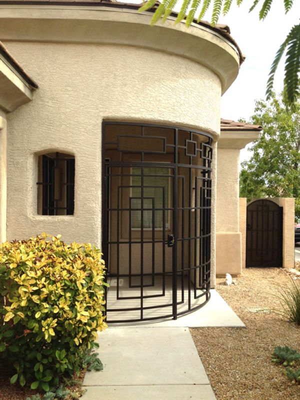 Modern Courtyard & Entryway Gates CE0353 Wrought Iron Design In Las Vegas