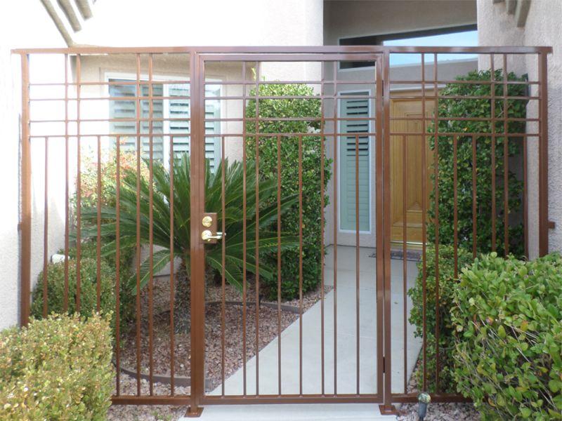 Modern Courtyard & Entryway Gates CE0363 Wrought Iron Design In Las Vegas