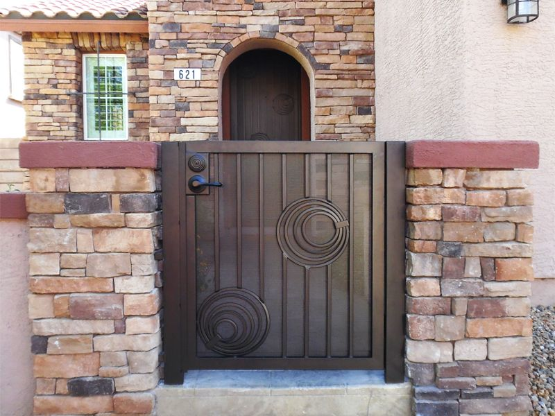 Modern Courtyard & Entryway Gates CE0404 Wrought Iron Design In Las Vegas