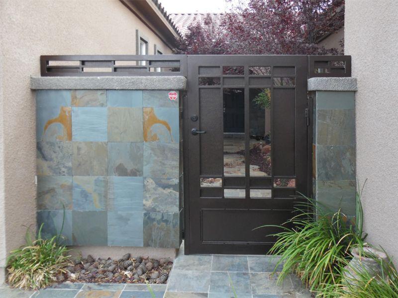 Modern Courtyard & Entryway Gates CE0410 Wrought Iron Design In Las Vegas