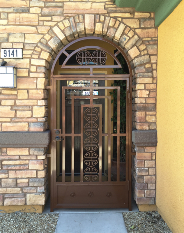 Modern Chi Entryway Door - Item EW0490 Wrought Iron Design In Las Vegas