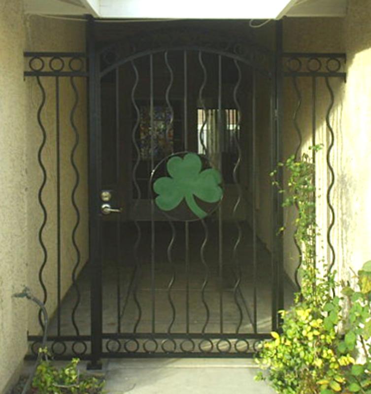 Modern Custom Archive Entryway Door - Item EW0079 Wrought Iron Design In Las Vegas