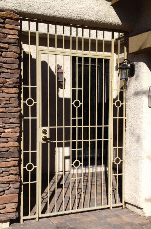 Modern Custom Archive Entryway Door - Item EW0295 Wrought Iron Design In Las Vegas