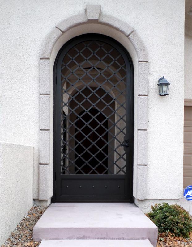 Modern Custom Archive Entryway Door - Item EW0336 Wrought Iron Design In Las Vegas