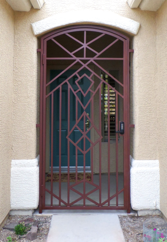 Modern Custom Archive Entryway Door - Item EW0361 Wrought Iron Design In Las Vegas