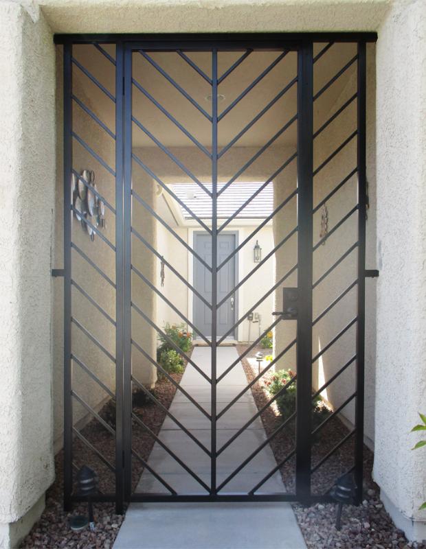 Modern Custom Archive Entryway Door - Item EW0520 Wrought Iron Design In Las Vegas