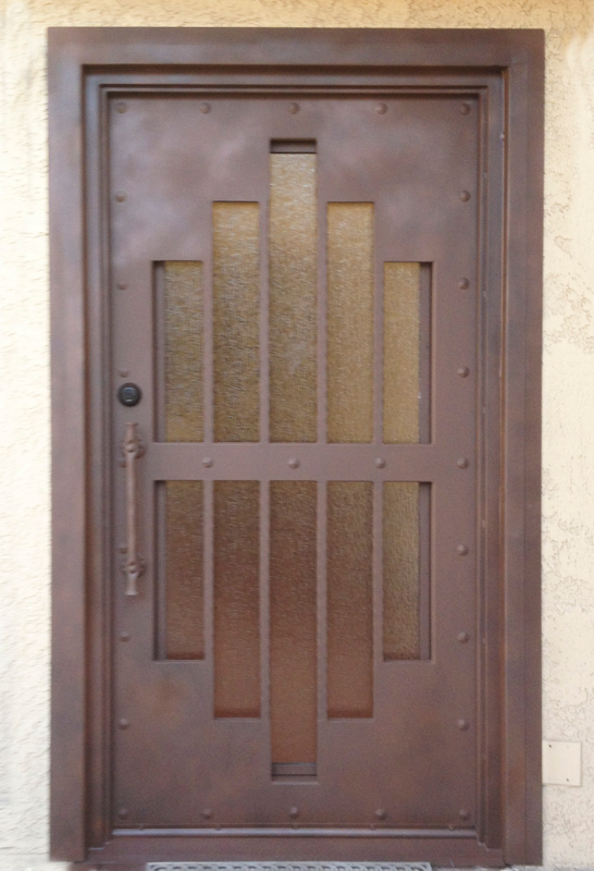 Modern Custom Archive Front Door - Item GE0017A Wrought Iron Design In Las Vegas