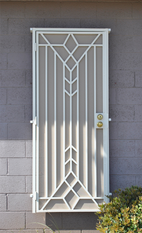 Modern Custom Archive Security Door - Item SD0141 Wrought Iron Design In Las Vegas