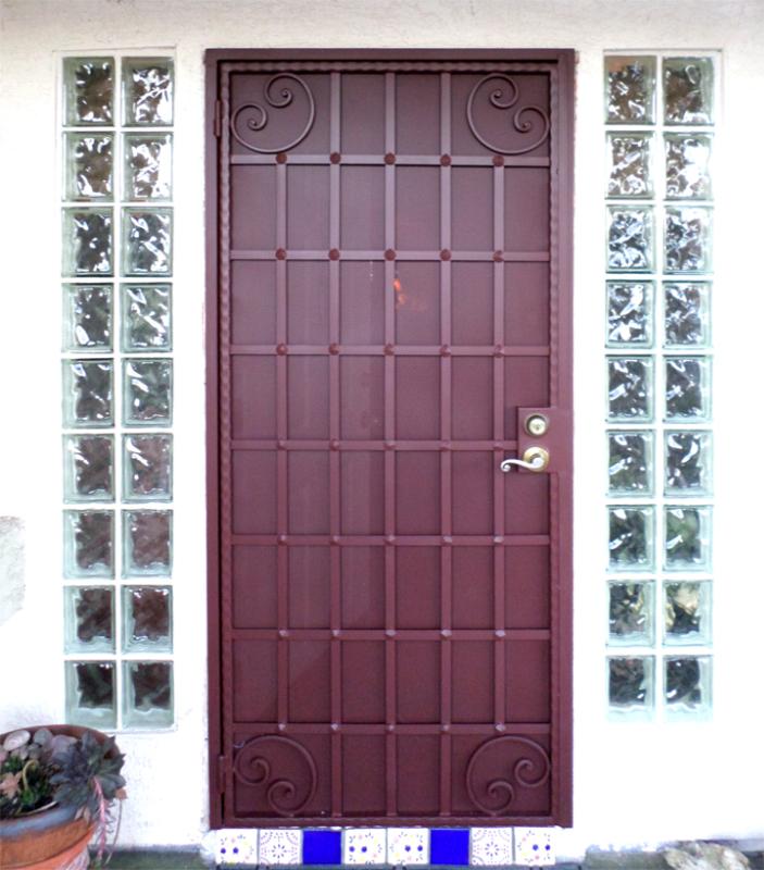 Modern Custom Archive Security Door - Item SD0176 Wrought Iron Design In Las Vegas