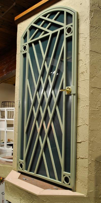 Modern Custom Archive Security Door - Item SD0243 Wrought Iron Design In Las Vegas