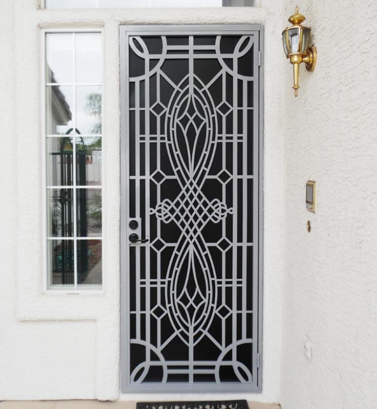 Modern Custom Archive Security Door - Item SD0265 Wrought Iron Design In Las Vegas